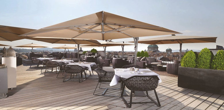 Schweizerhof Bern, roof terrace
