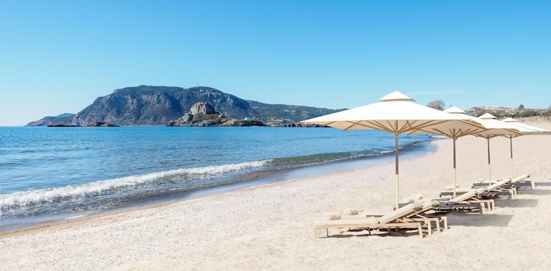 ikos aria, beach