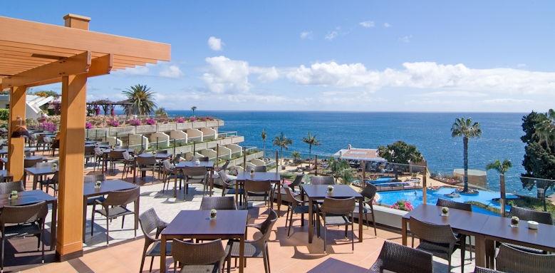 pestana carlton madeira, view to sea from restaurant terrace