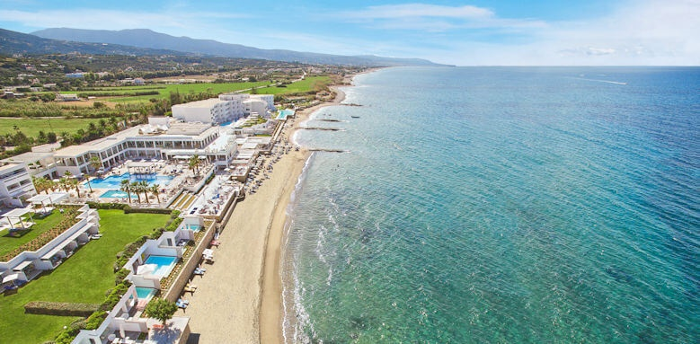 Grecotel White Palace, arial view of hotel
