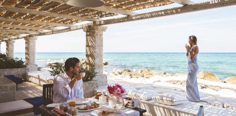 La Peschiera, breakfast terrace