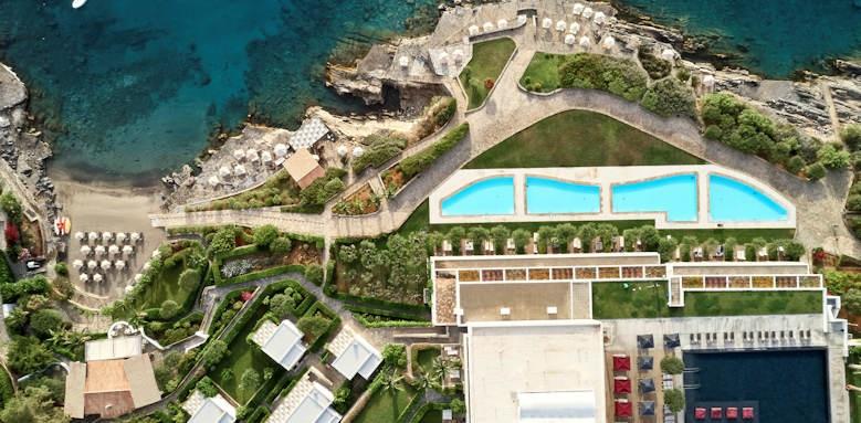 minos palace, aerial view