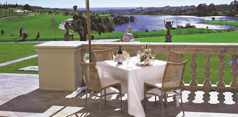 Villa Padierna Palace Hotel, restaurant overlooking golf course