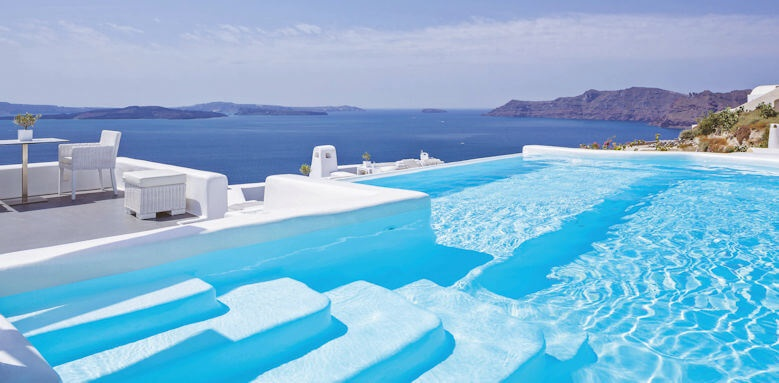 Canaves Oia Hotel, pool view