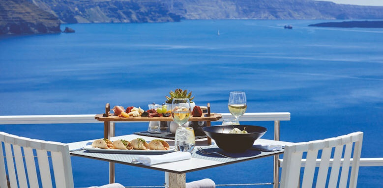 Canaves Oia Hotel, breakfast