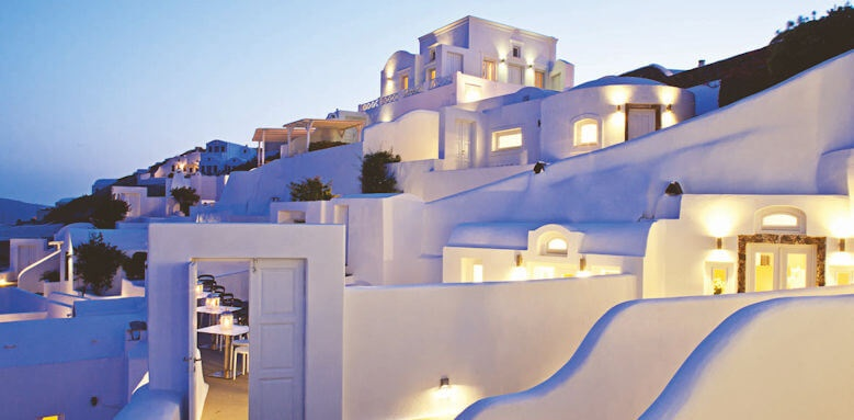 Canaves Oia Hotel, night scene