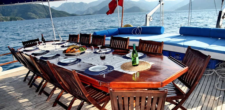 Turkey and Greece Gulet Cruise, ship dining