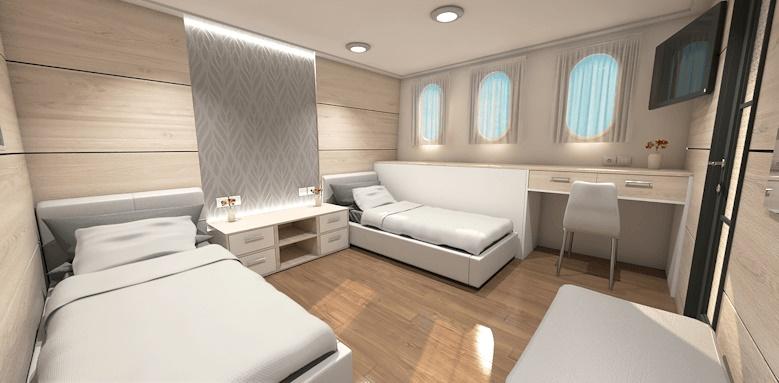 MS Ambassador, twin bed room