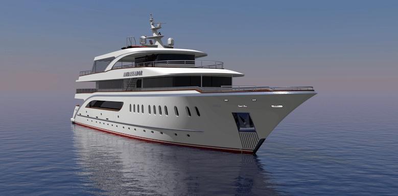 MS Ambassador, exterior of boat