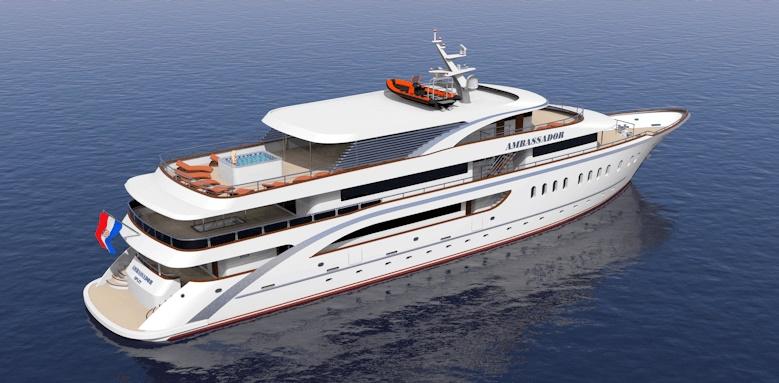 MS Ambassador Split to Dubrovnik, exterior view of boat