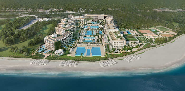 Ikos Andalusia, aerial view of hotel