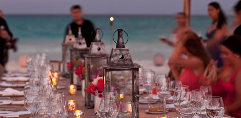 Belmond Maroma, table on the beach