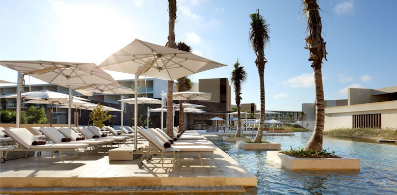 Family Selection At Grand Palladium Costa Mujeres Resort & Spa, pool loungers