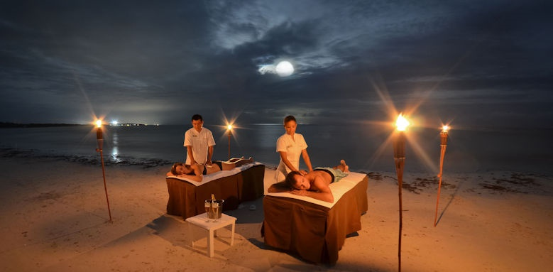 TRS Yucatan, spa treatment on beach