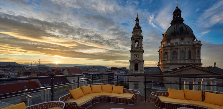 Aria Hotel Budapest, rooftop terrace