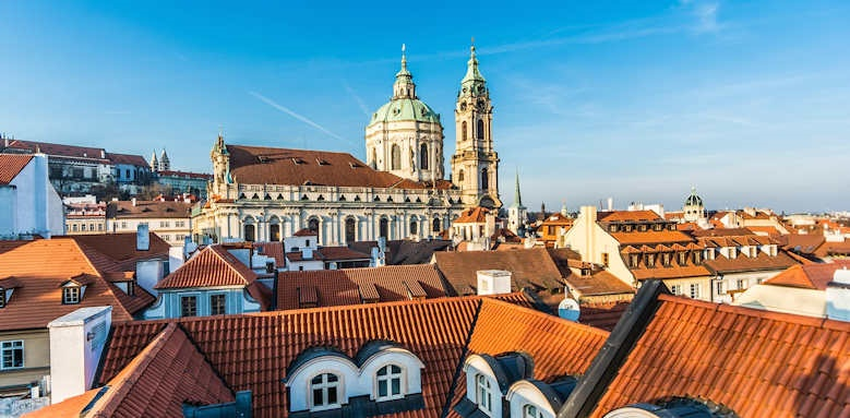 Prague Hotel Aria, rooftop city view