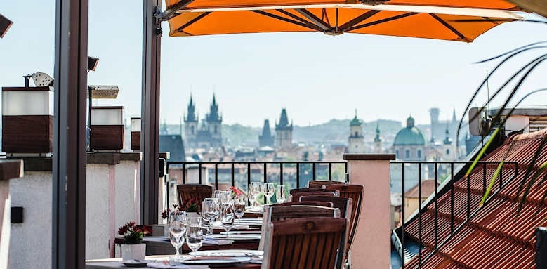 Prague Hotel Aria, rooftop dining