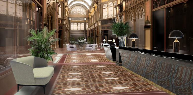 Parisi Udvar Hotel, reception area