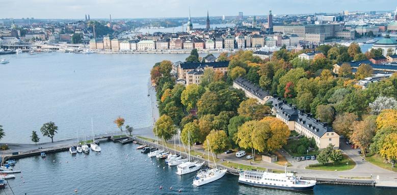Hotel Skeppsholmen, aerial view of hotel