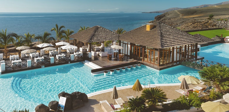 Secrets Lanzarote Resort & Spa, view of hotel and pool