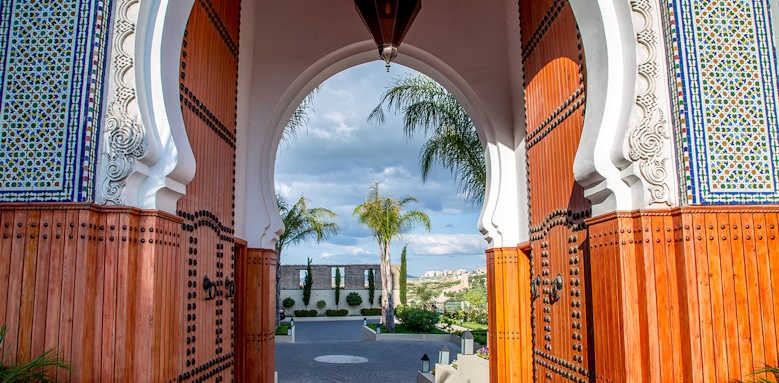 Palais Faraj, entrance archway
