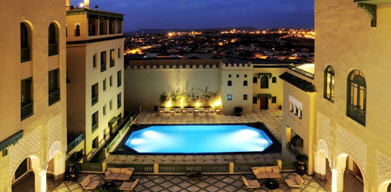 Palais Faraj, view of hotel and patio pool