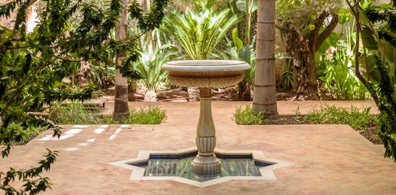 Riad Fes, garden area