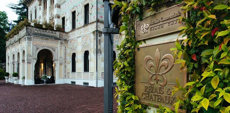 Villa Crespi, entrance