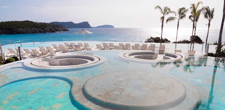 Bless Hotel Ibiza, view of pool area