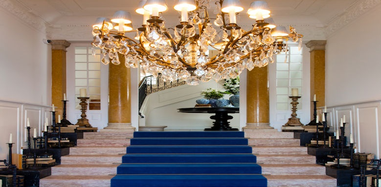 Grand House, chandelier and staircase