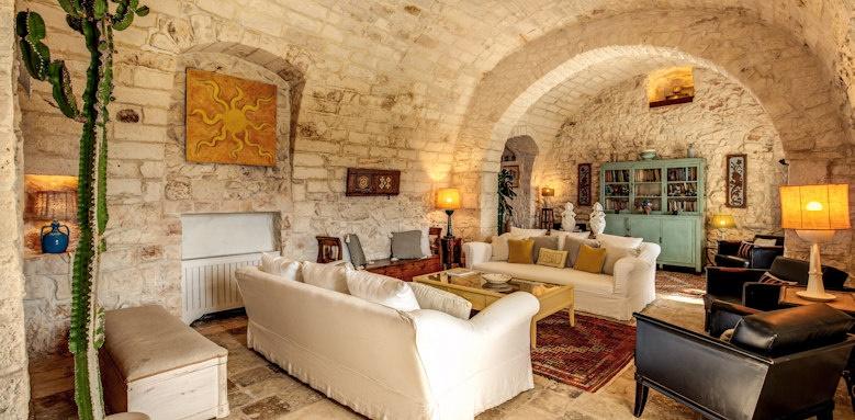 Masseria Cervarolo, living room