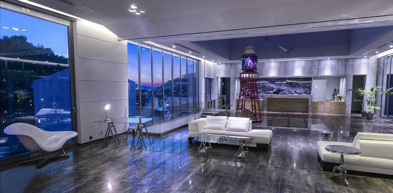 Adrina Resort & Spa, night reception area