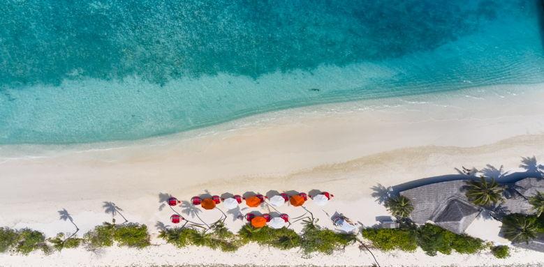 Finolhu Maldives aerial beach