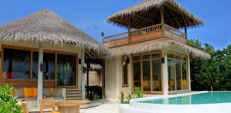 Six Senses Laamu, lagoon beach villa