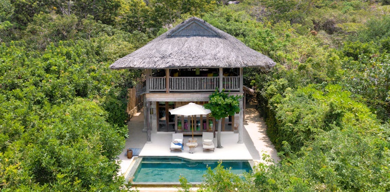 Six Senses Ninh Van Bay, beachfront pool villa