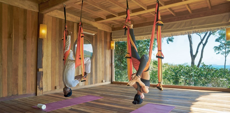 Six Senses Ninh Van Bay, flying yoga