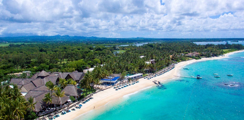 Constance Belle Mare Plage,  beach aerial view