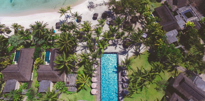 Constance Prince Maurice, aerial shot of pool