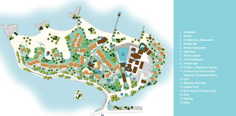 Preskil Island resort map