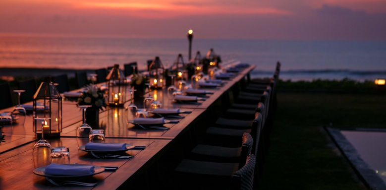 Alila Seminyak, dinner in temple garden