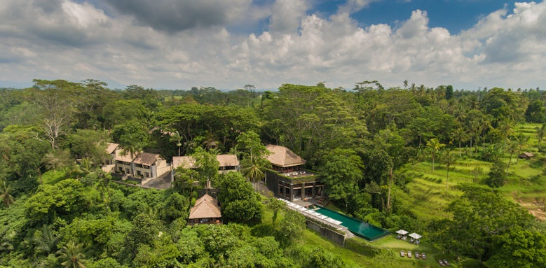 Alila Ubud, Aerial view of hotel