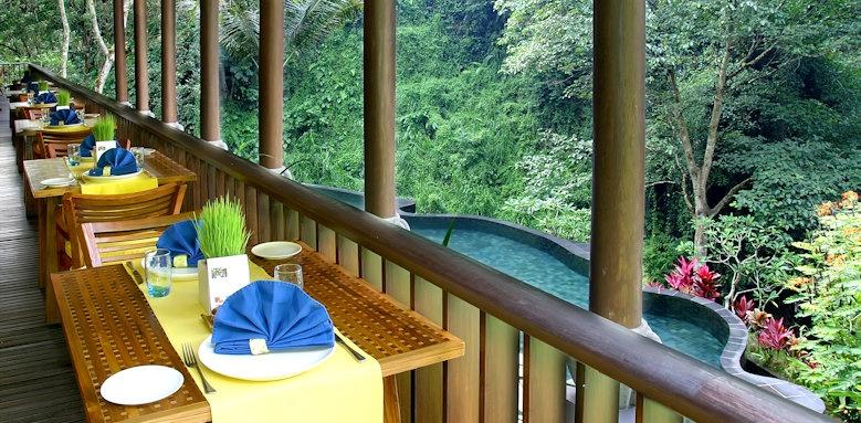 Maya Ubud, restaurant terrace