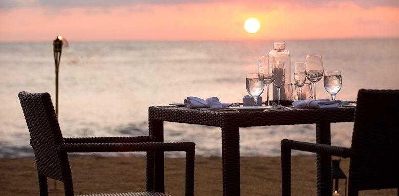 Avani Kalutara Resort, sunset dining