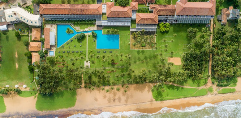 The Blue Water Hotel and Spa, aerial view