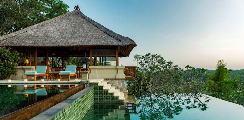 Amandari, villa two tiered swimming pool