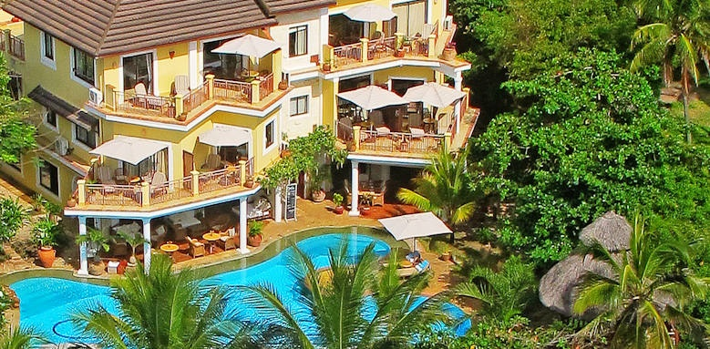 Afrochic Diani, arial view