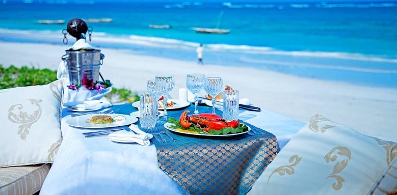 Afrochic Diani, beach side lunch