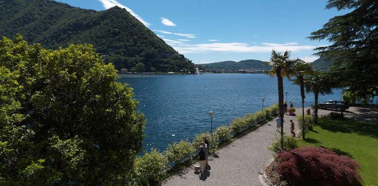 Villa Flori, lake walk