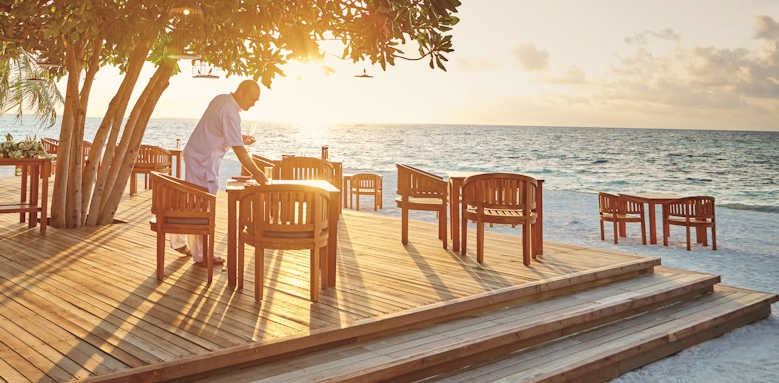 LUX South Ari Atoll, sunset dining