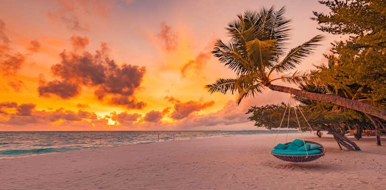 LUX South Ari Atoll, sunset